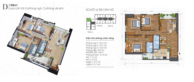 Căn 128 m2