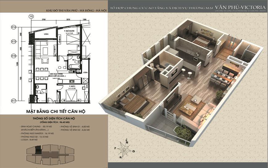 Mặt bằng căn hộ số 1-2-11-12