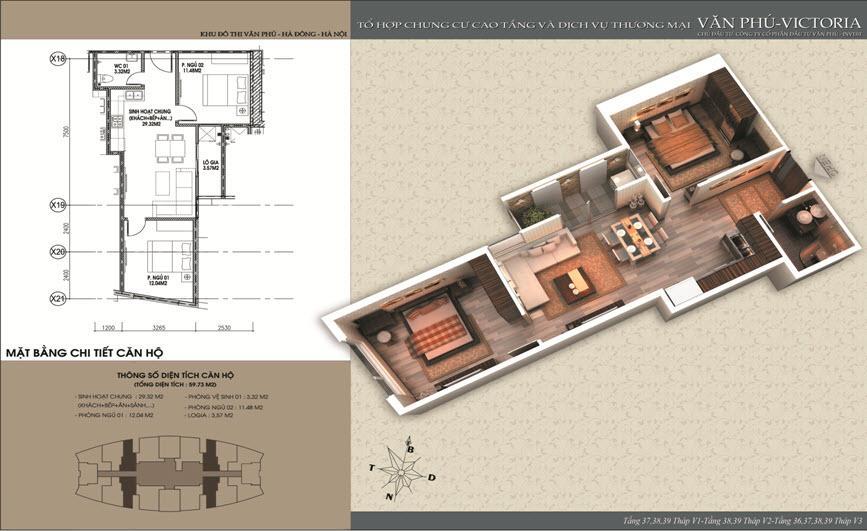 Mặt bằng căn hộ số 3-7-13-17