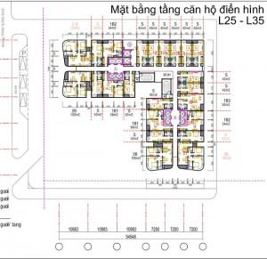 Mặt bằng tầng căn hộ điển hình tầng 25 – 35
