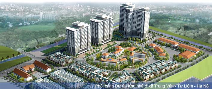 Phối cảnh Dự án khu nha ở xã Trung Văn - Từ Liêm - Hà Nội