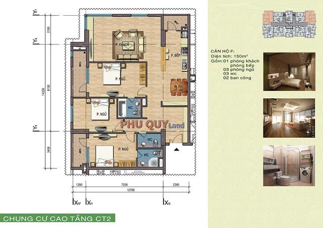 Thiết kế căn hộ 150 m2 chung cư Trung Văn– Vinaconex 3.