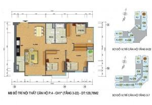 Mặt bằng căn hộ số 2 chung cư Packexim 2 Tây Hồ