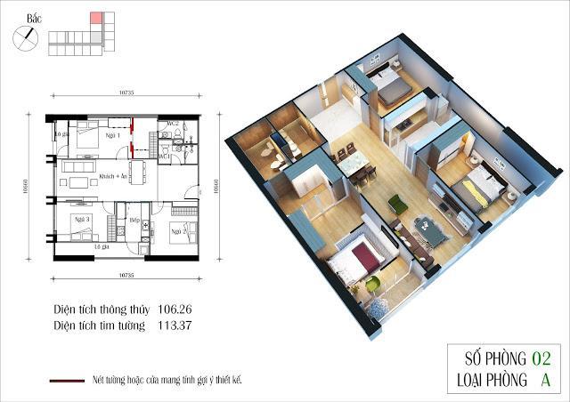 Căn hộ 105 m2 – Dự án Eco Green City