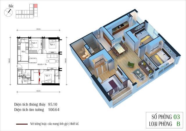 Căn hộ 94 m2 – Dự án Eco Green City