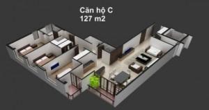 MẶT CẮT CĂN HỘ BELLEZA 127 m2