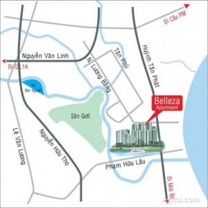 Vị trí dự án BELLEZA