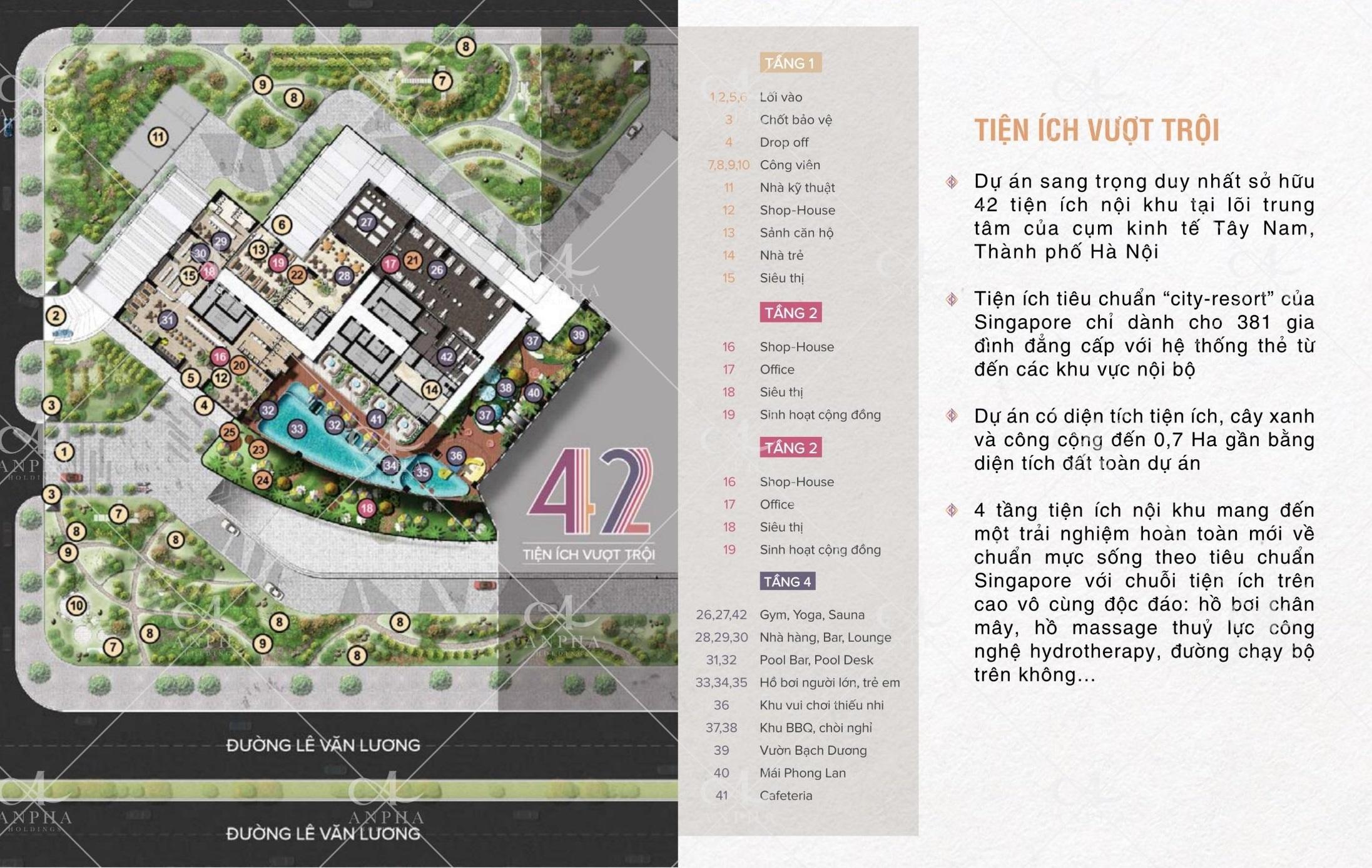 Tiện ích dự án Legend Park Văn Khê